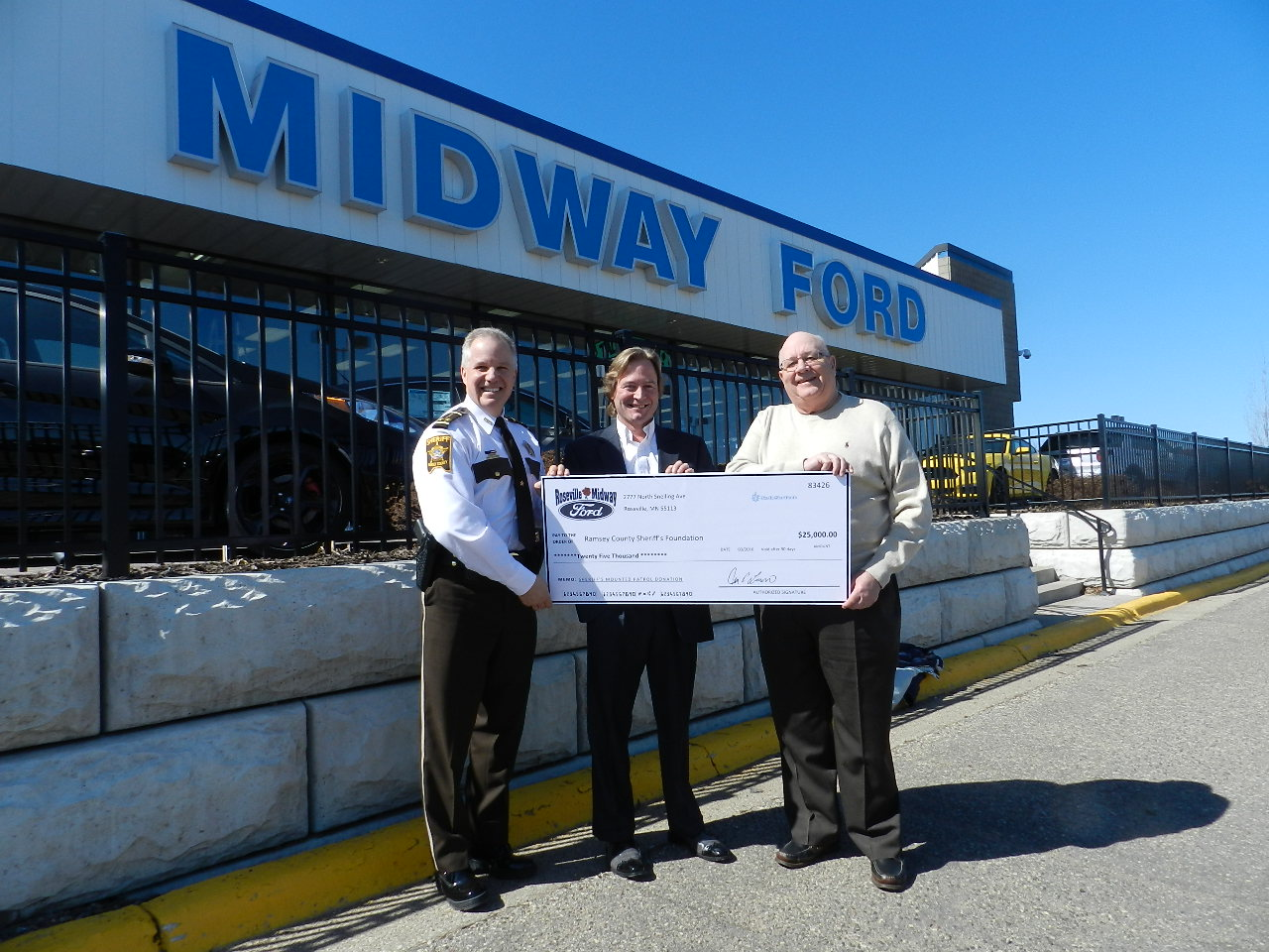 Ramsey Country Sheriff Foundation Check