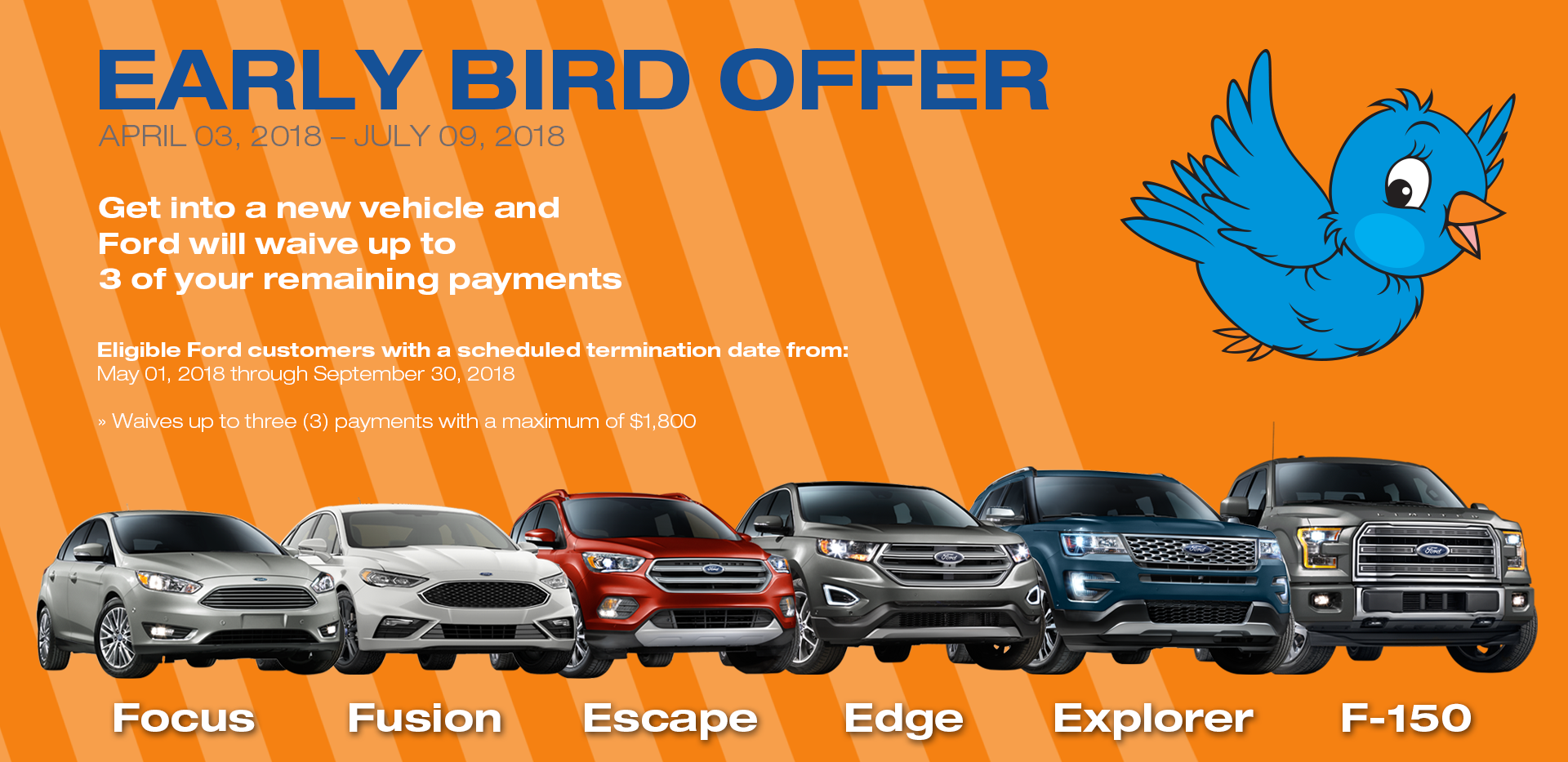 Terminating A Car Lease Early >> Ford Early Bird Lease Return Special Midway Ford Roseville Mn